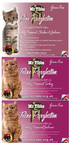 ***SAVE £2.00*** GRAIN FREE  FOR CATS MIXED 2KG BAGS Kitten, adult cat. Save £2